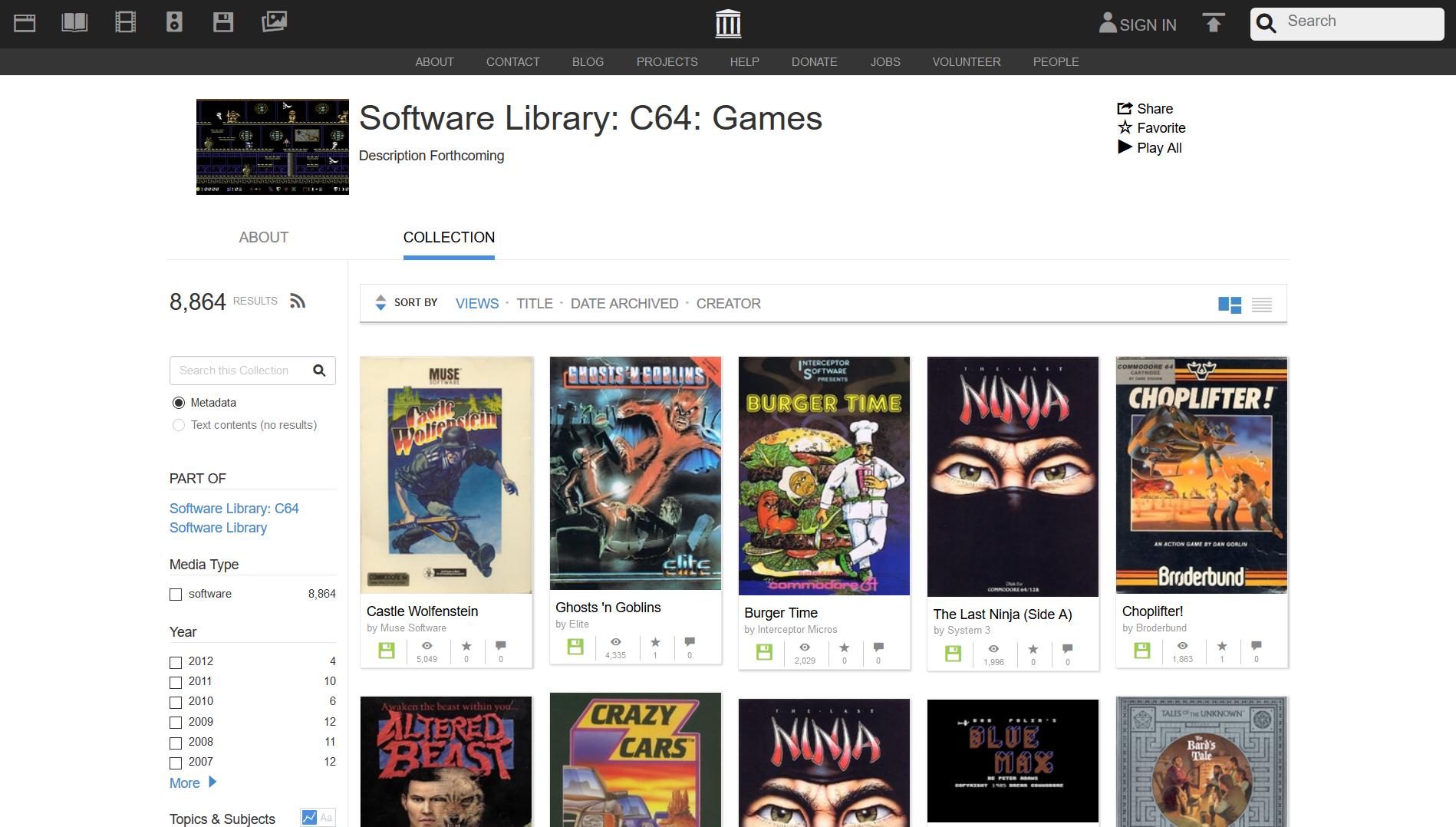 GEEKWEB - Zagraj w prawie 9 tysięcy gier z Commodore 64